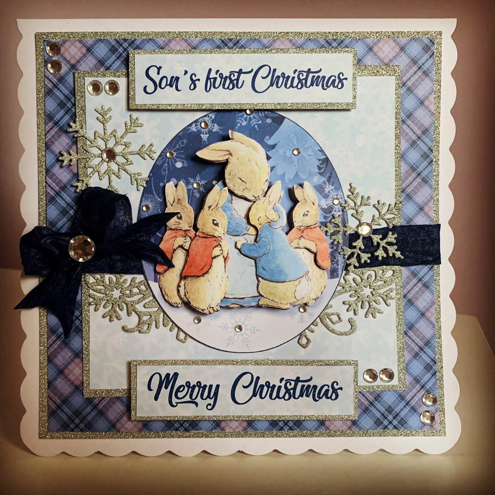 Peter Rabbit son's first Christmas card image