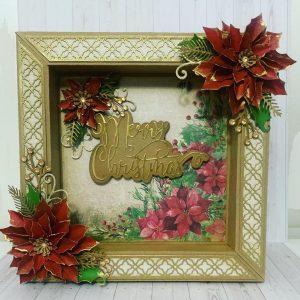 Christmas box frame card