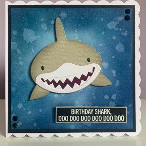 Birthday shark card