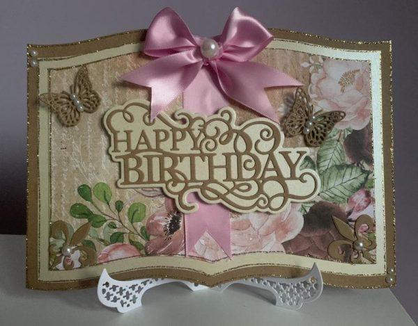 Book-Style Happy Birthday Handmade Greetings Card