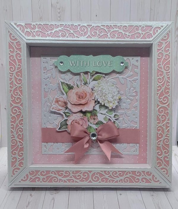 Mother's Day Pink Box Frame Greetings Card