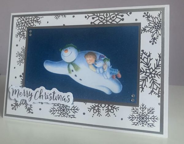 The Snowman & Snowdog Handmade Greetings Card for Christmas