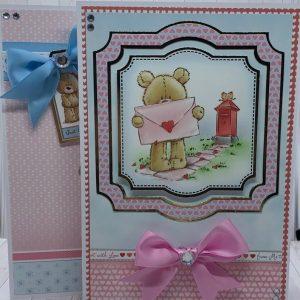Cute Valentine's Day Bears Handmade Greetings Card