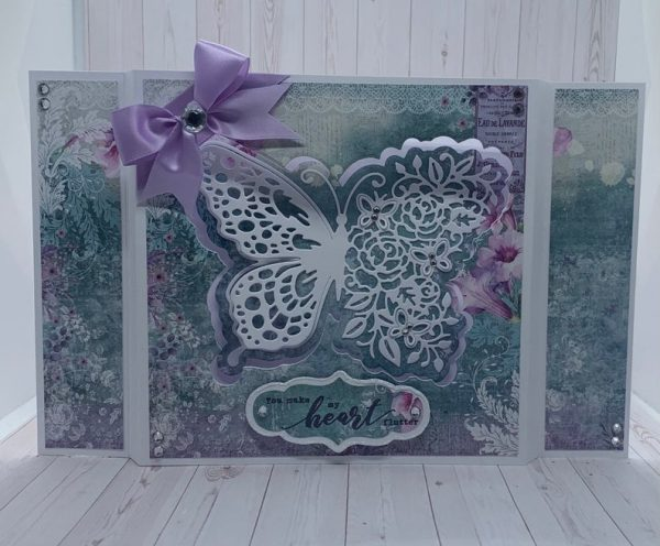 Floral Butterfly Diorama Card