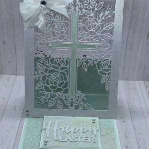 Floral Cross Easter Card