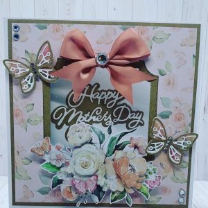 Floral Mother's Day Decoupage Card