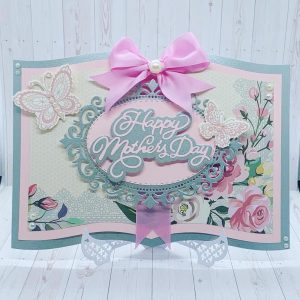 Mothers Day Book Style Card