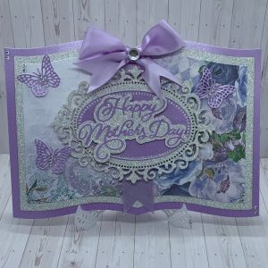 Mothers Day Violet Floral Boxed Card