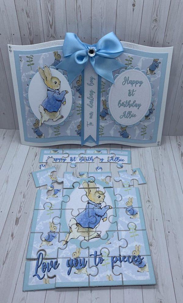 Peter Rabbit Baby Boy Card and Jigsaw