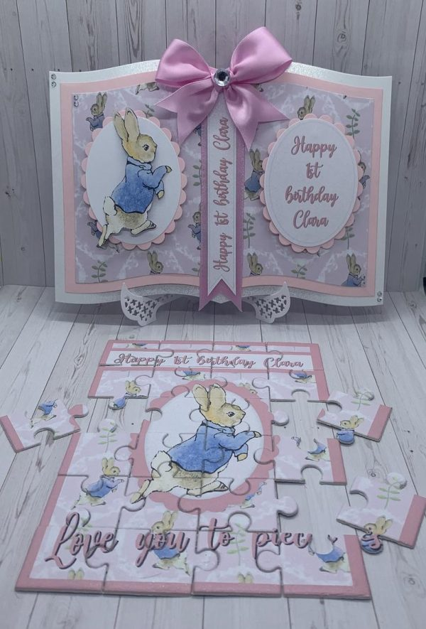 Peter Rabbit Baby Girl Card & Jigsaw