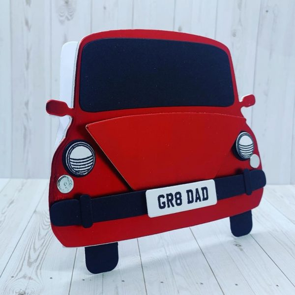 Father's Day Car Shaped Card